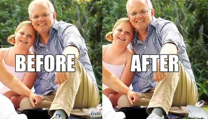 آسٹریلوی وزیراعظم کے ' فوٹو شاپ جوتے'