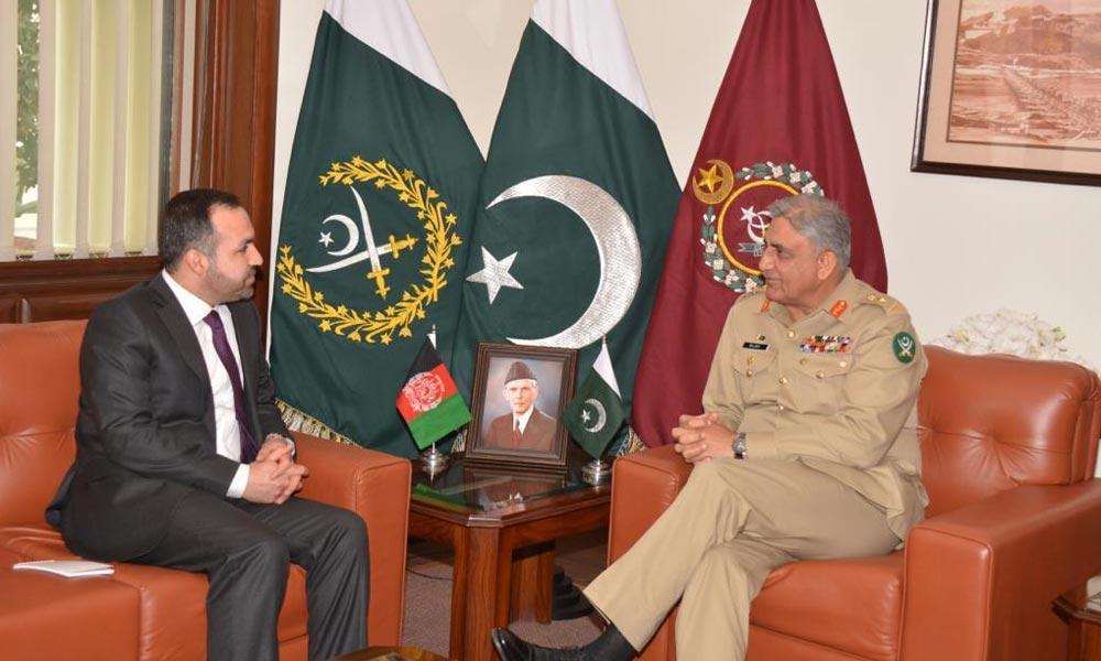 آرمی چیف سے افغان سفیر کی ملاقات
