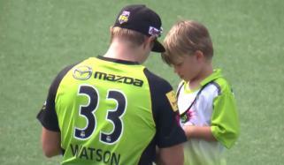Shane Waton And His Son