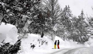 World Severe Snowfall Brings Parts Of Europe To A Grinding Halt