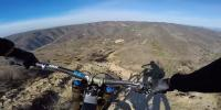 Incredible Biker Hurtles Down Steep Iceland Mountain