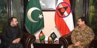 Afghan Ambassador Meets Corps Commander Peshawar