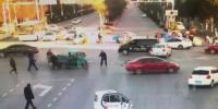 Tricycle Makes A Left Turn Badly Hit By Car