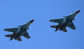 Russian Fighter Jets Collide Mid Air Crews Eject
