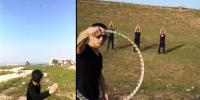 Chinese Man Show Amazing Throwing Skills