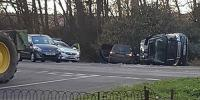 Prince Philip Car Accident Royal 97 Unhurt As Land Rover Flips