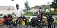 Cyclist Couple Of Check Republican Reached Karachi