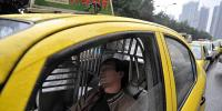 Taxi Driver Falls Asleep And Crashes Into A Construction Truck China