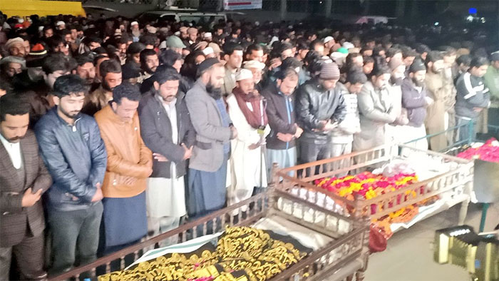 ساہیوال فائرنگ میں مرنے والے چار وں افراد کی نماز جنازہ ادا