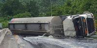Diesel Tanker Over Turned Near Moro Pakistan