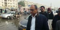 Saeed Ghani Visits Karachi After Rain