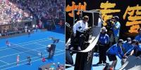 Australian Open Umpire Is Almost Flattened By A Low Flying Spidercam Camera