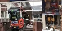Digger Driver Smashes His Way Into New Hotel In Liverpool Uk