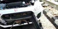 Monkey Stuck In Car Bonnet Rescued