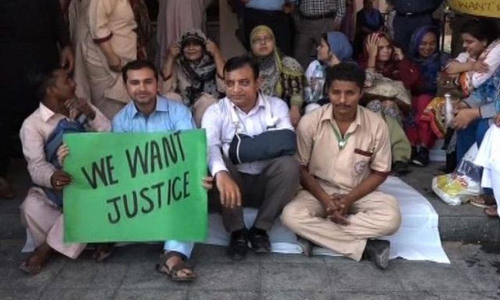 سندھ کے سرکاری اسپتالوں میں ڈاکٹروں کا احتجاج، او پی ڈی بند