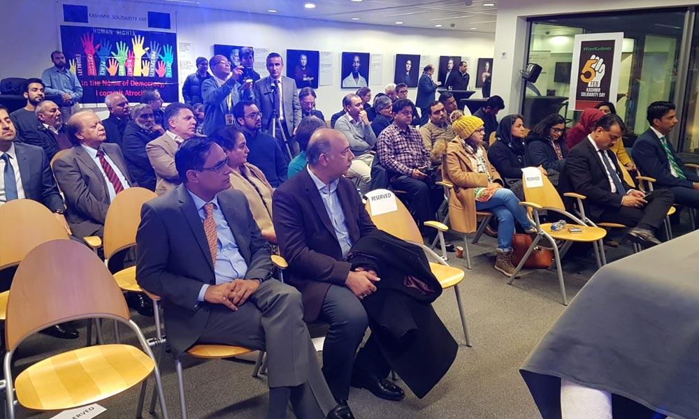 برسلز: پاکستانی سفارتحانے کےتحت یوم یکجہتی کشمیر پر کانفرنس