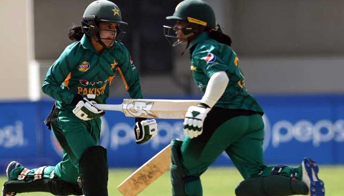تیسرا ٹی ٹوئنٹی: پاکستان ویمن ٹیم کی ویسٹ انڈیز کیخلاف بیٹنگ