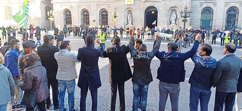 یوم یکجہتی کشمیر، بارسلونا میں احتجاجی ریلی