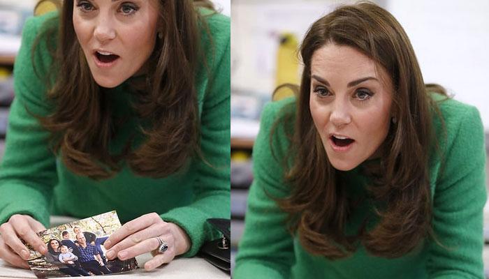 کیٹ نے اسکول کے بچوں کے ساتھ وقت گزارا اور تصاویر دکھائیں