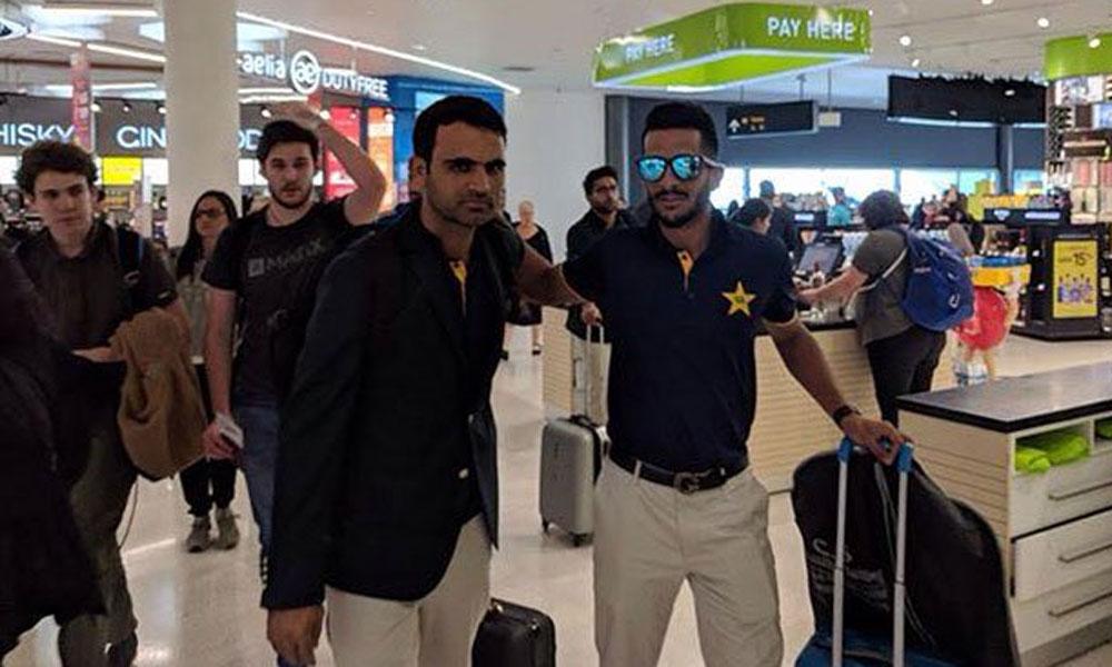 قومی کرکٹ ٹیم جنوبی افریقا سے وطن واپس پہنچ گئی