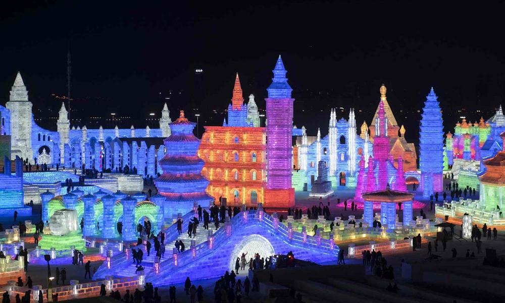 چین میں آئس اینڈ اسنو فیسٹیول زوروشور سے جاری