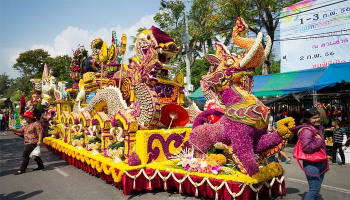 تھائی لینڈ میں پھولوں کے سالانہ میلے کا انعقاد