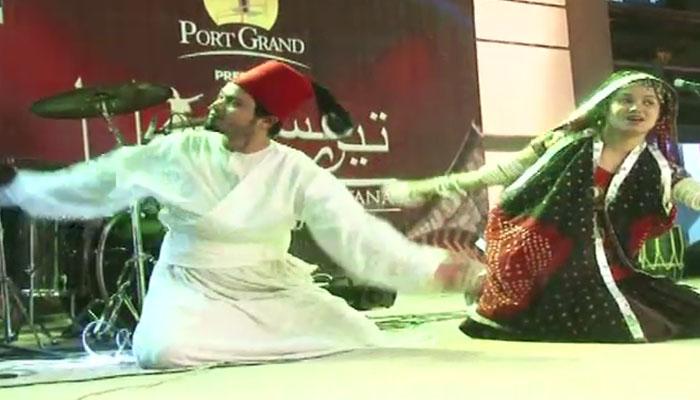 کراچی:ساحلی مقام پرصوفیانہ موسیقی کے سر بکھر گئے