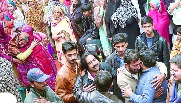 سانحہ ساہیوال کےمقتولین کےورثا کا احتجاج