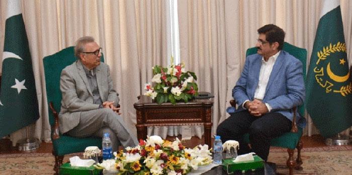 وزیر اعلی سندھ کی صدر سے ملاقات، ترقیاتی منصوبوں پر گفتگو
