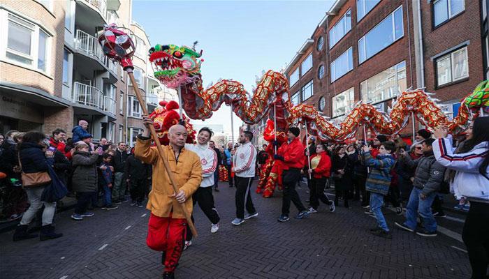 چین : نئے قمری سال کا جشن، نیدرلینڈمیں پریڈ کا انعقاد