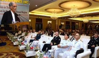 Minister Of Defence Pervez Khattak Addresses 8th International Maritime Conference In Karachi