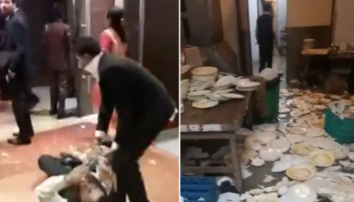 بھارت: کھانا پسند نہ آنے پر مہمان ہوٹل اسٹاف لڑپڑے