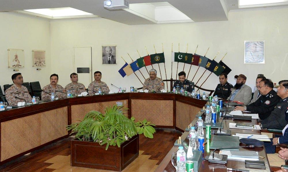 کراچی: ڈی جی رینجرز کی زیر صدارت اعلیٰ سطح اجلاس