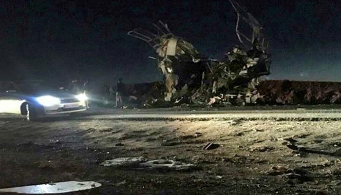 ایران میں خودکش حملہ،20 گارڈز جاں بحق