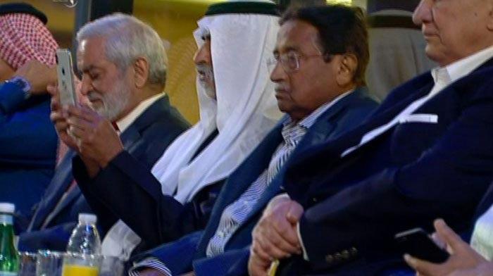 پرویز مشرف بھی پی ایس ایل تقریب میں موجود تھے