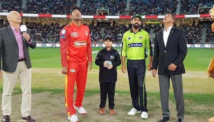 اسلام آباد یونائیٹڈ کی ٹاس جیت کر فیلڈنگ
