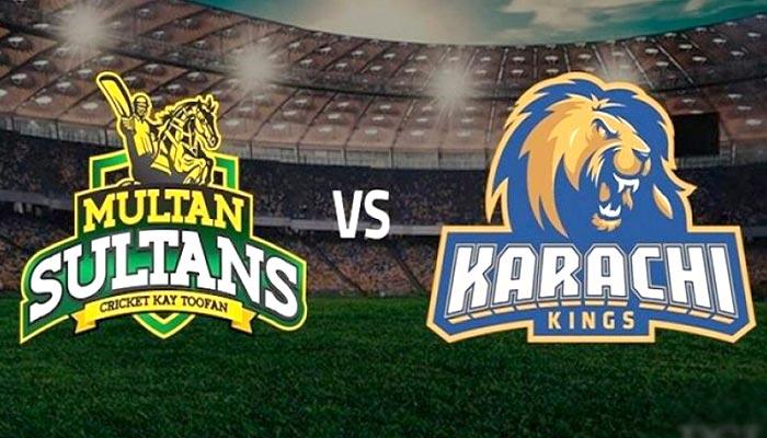 کراچی کنگز کی ملتان سلطانز کیخلاف ٹاس جیت کر بیٹنگ