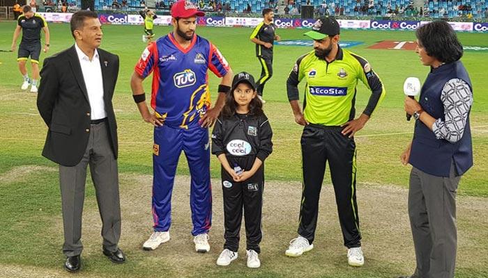 کراچی کنگز کی لاہور قلندرز کیخلاف ٹاس جیت کر فیلڈنگ