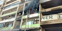 Fire Breaks Out In Bank On Chundrigar Road Karachi