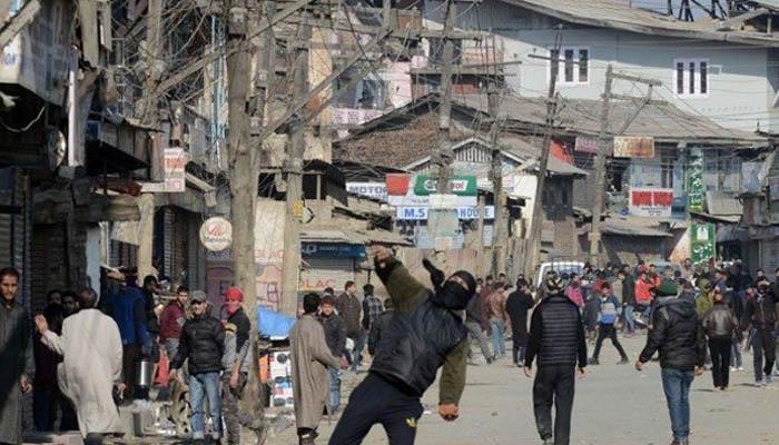 مقبوضہ کشمیر میں مسلمان کشمیریوں کی املاک پر حملوں کیخلاف ہڑتال