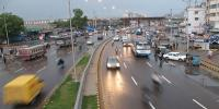 Streets Become Slippery After Light Rain In Karachi