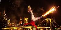 Stunning Break Dancing With Fireworks