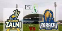 Peshawar Zalmi Face Karachi Kings Today