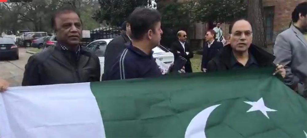 ہیوسٹن میں پاکستانیوں کا بھارتی مظاہرین کو بھرپور جواب