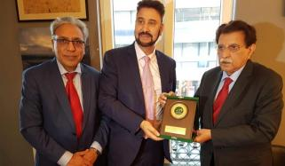 Pm Ajk Visits Kashmir Council Office In Brussels