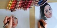 Netherland Artist Draws Photo Realistic Pencil Portraits With Both Hands At The Same Time