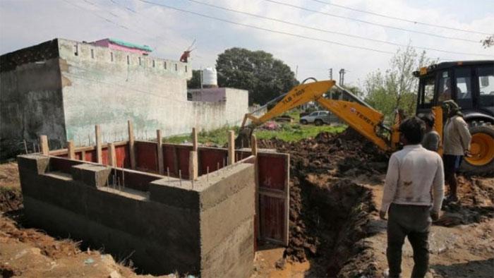 بھارتی حکومت نے پاکستانی سرحد کے پاس نئے بنکر کی تعمیر شروع کردی
