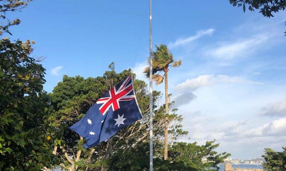 نیوزی لینڈ میں مساجد پر حملے، آسٹریلیا میں پرچم سرنگوں