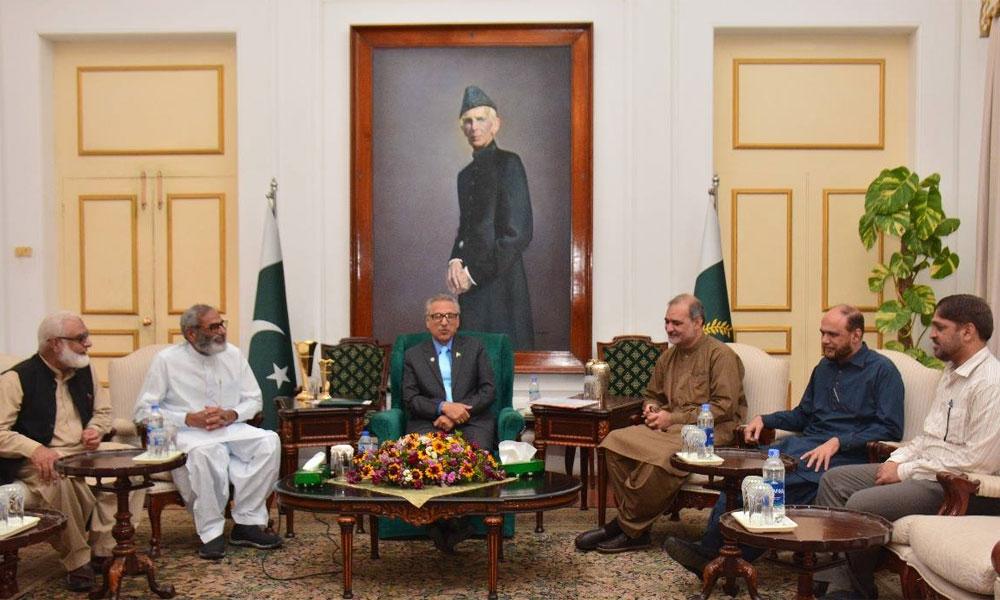 حافظ نعیم کی صدر مملکت سے ملاقات