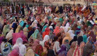 Sit In Of Lady Health Workers In Lahore